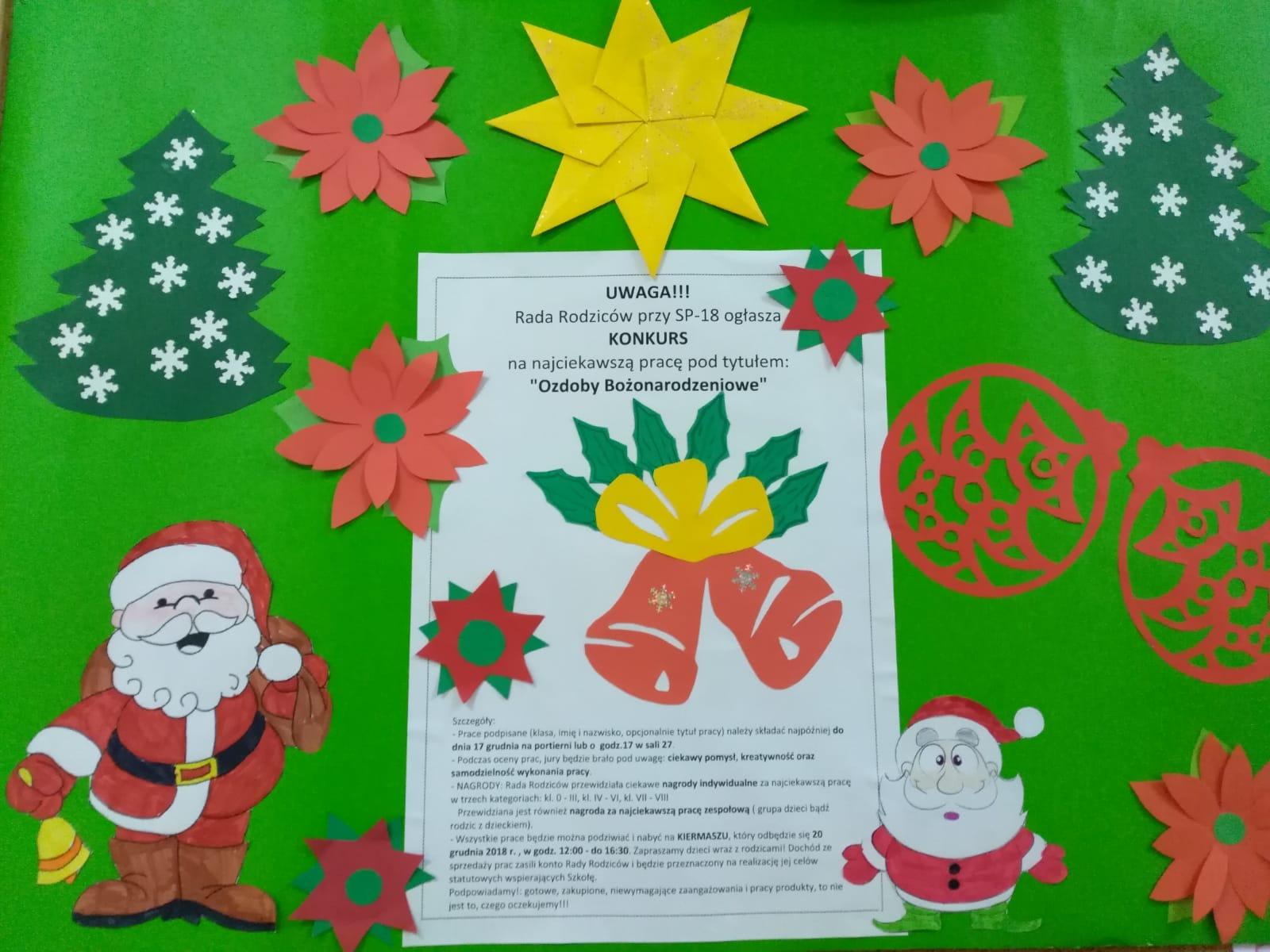 plakat konkurs bożonarodzeniowy